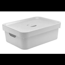 Caixa Organizadora Cube 10,5 Litros com Tampa - Branco