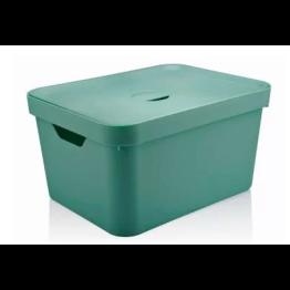 Caixa Organizadora Cube 32 Litros com Tampa - Verde