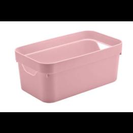 Caixa Organizadora Cube 5,3 Litros - Rosa