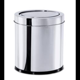 Lixeira Inox com Tampa Basculante Brinox - Linha Decorline 5,4l